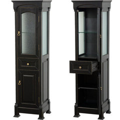 Buy Wyndham Collection Andover Linen Tower in Black on sale online