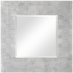 Buy Cooper Classics Angela 34 Inch Square Mirror in Silver on sale online