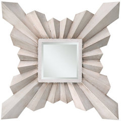 Buy Cooper Classics Anna 30 Inch Square Mirror in Silver on sale online