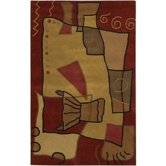 Buy Chandra Rugs Antara Hand-Tufted Contemporary Brown Rug - ANT115 on sale online