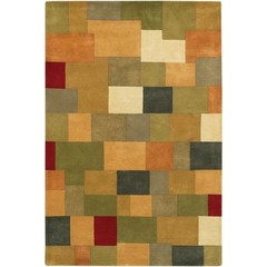 Buy Chandra Rugs Antara Hand-Tufted Contemporary Orange Rug - ANT112 on sale online