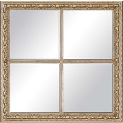 Buy Paragon Antique Gold Windowpane 29x29 Mirror  on sale online