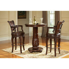 Buy Steve Silver Antoinette 3 Piece 33 Inch Round Pub Table Set on sale online