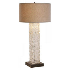 Buy Trend Lighting Apex Latte Linen Shade 36.5 Inch Table Lamp on sale online