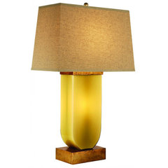 Buy Trend Lighting Aramis Sage Glass 32 Inch Table Lamp on sale online