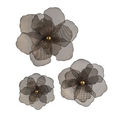 Buy IMAX Worldwide Astaire Flower Wall Decor (Set of 3) on sale online