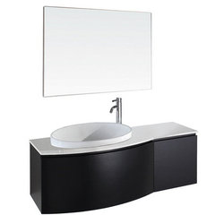 Buy Wyndham Collection Athena 47.25 Inch White Stone Top Single Sink Vanity Set in Espresso on sale online