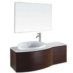 Buy Wyndham Collection Athena 47.25 Inch White Stone Top Single Sink Vanity Set in Ironwood on sale online