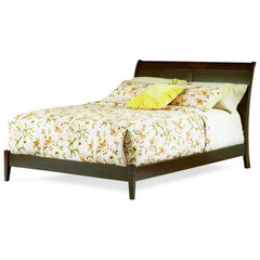 Buy Atlantic Furniture Bordeaux Bed w/ Open Footrail in Antique Walnut on sale online