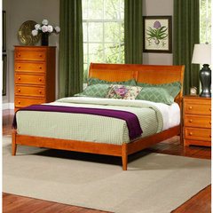 Buy Atlantic Furniture Bordeaux Bed w/ Open Footrail in Caramel Latte on sale online