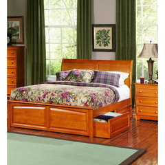 Buy Atlantic Furniture Bordeaux Bed w/ Raised Panel Footboard in Caramel Latte on sale online