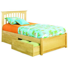 Buy Atlantic Furniture Brooklyn Bed w/ Flat Panel Footboard in Natural Maple on sale online