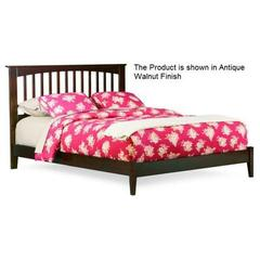 Buy Atlantic Furniture Brooklyn Bed w/ Open Footrail in Caramel Latte on sale online