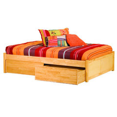 Buy Atlantic Furniture Concord Platform Bed w/ Flat Panel Footboard in Natural Maple on sale online