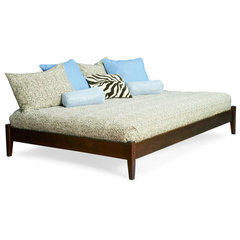 Buy Atlantic Furniture Concord Platform Bed w/ Open Footrail in Antique Walnut on sale online