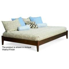 Buy Atlantic Furniture Concord Platform Bed w/ Open Footrail in White on sale online