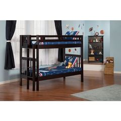 Buy Atlantic Furniture Cascade Bunk Bed Twin over Twin in an Espresso Finish on sale online