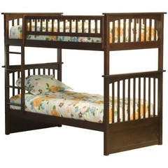 Buy Atlantic Furniture Columbia Bunk Bed in Antique Walnut on sale online