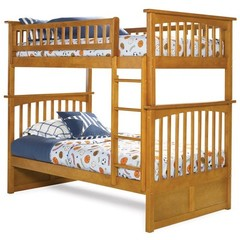 Buy Atlantic Furniture Columbia Bunk Bed in Caramel Latte on sale online