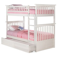 Buy Atlantic Furniture Columbia Bunk Bed w/ Trundle in White on sale online