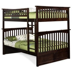Buy Atlantic Furniture Columbia Full/Full Bunk Bed in Antique Walnut on sale online
