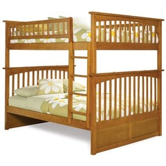 Buy Atlantic Furniture Columbia Full/Full Bunk Bed in Caramel Latte on sale online
