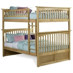 Buy Atlantic Furniture Columbia Full/Full Bunk Bed in Natural Maple on sale online