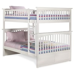 Buy Atlantic Furniture Columbia Full/Full Bunk Bed in White on sale online
