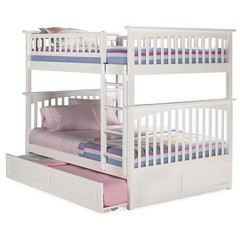 Buy Atlantic Furniture Columbia Full/Full Bunk Bed w/ Trundle in White on sale online