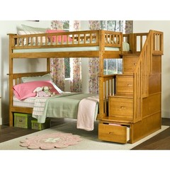 Buy Atlantic Furniture Columbia Staircase Bunk Bed in Caramel Latte on sale online