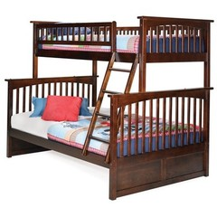 Buy Atlantic Furniture Columbia Twin/Full Bunk Bed in Antique Walnut on sale online