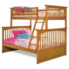 Buy Atlantic Furniture Columbia Twin/Full Bunk Bed in Caramel Latte on sale online