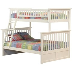 Buy Atlantic Furniture Columbia Twin/Full Bunk Bed in White on sale online