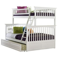 Buy Atlantic Furniture Columbia Twin/Full Bunk Bed w/ Trundle in White on sale online