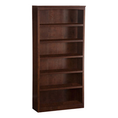 Buy Atlantic Furniture Harvard 72 Inch Bookshelf in Antique Walnut on sale online