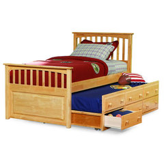 Buy Atlantic Furniture Mates Bed w/ 3-Drawers Trundle in Natural Maple on sale online