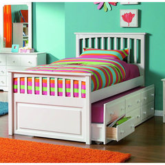 Buy Atlantic Furniture Mates Bed w/ 3-Drawers Trundle in White on sale online