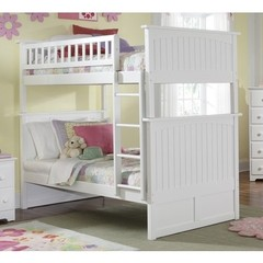 Buy Atlantic Furniture Nantucket Bunk Bed in White on sale online