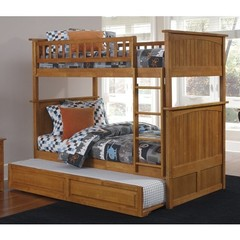 Buy Atlantic Furniture Nantucket Bunk Bed w/ Trundle in Caramel Latte on sale online