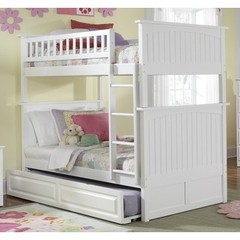 Buy Atlantic Furniture Nantucket Bunk Bed w/ Trundle in White on sale online