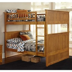 Buy Atlantic Furniture Nantucket Full/Full Bunk Bed in Caramel Latte on sale online
