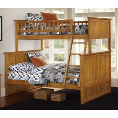Buy Atlantic Furniture Nantucket Twin/Full Bunk Bed in Caramel Latte on sale online