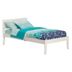 Buy Atlantic Furniture Orlando Twin XL Open Foot Platform Bed in White on sale online