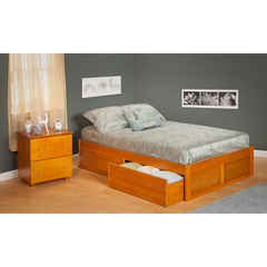 Buy Atlantic Furniture Urban Lifestyle Concord Queen Size Bed w/ Flat Panel Foot Board and Urban Bed Drawers on sale online