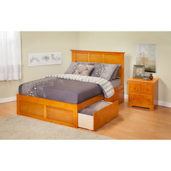 Buy Atlantic Furniture Urban Lifestyle Madison Full Bed w/ Flat Panel Footboard and Urban Bed Drawers on sale online