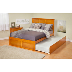 Buy Atlantic Furniture Urban Lifestyle Madison Full Bed w/ Flat Panel Footboard and Urban Trundle on sale online