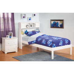 Buy Atlantic Furniture Urban Lifestyle Newport Bookcase Bed Twin Size w/ Open Foot Rail on sale online