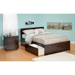 Buy Atlantic Furniture Urban Lifestyle Orlando Queen Bed w/ Flat Panel Foot Board and Urban Bed Drawers on sale online