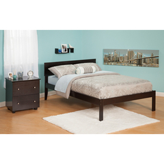Buy Atlantic Furniture Urban Lifestyle Orlando Queen Bed w/ Open Foot Rail on sale online