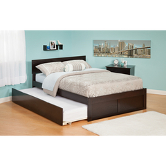 Buy Atlantic Furniture Urban Lifestyle Orlando Twin Bed w/ Flat Panel Foot Board and Urban Trundle Bed on sale online